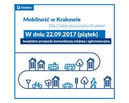 Darmowa komunikacja miejska 22.09.2017 w Krakowie