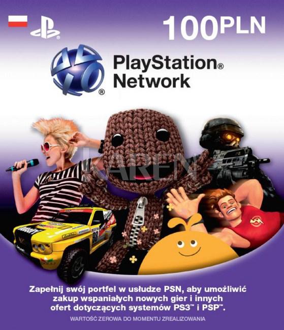 Zdrapka 100zł na Playstation Network (PSN) za 79,20zł z darmowym odbiorem @ Karen