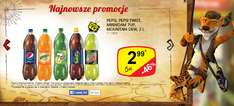 Pepsi,Pepsi Twist, 7UP, Mirinda, Moutain Dew 2L za 2,99zł @ Żabka