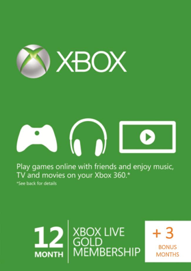Xbox Live Gold 15 miesięcy