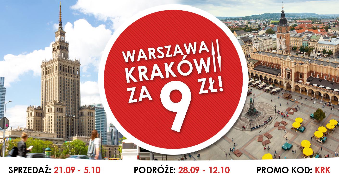 Warszawa-Kraków 9+1zł z PolskimBusem 28wrz-12paźdz