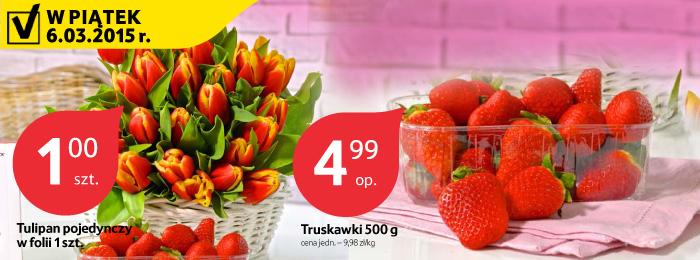 Tulipan za 1zł, bukiet róż za 5,99zł, storczyk za 9,99zł @ Tesco