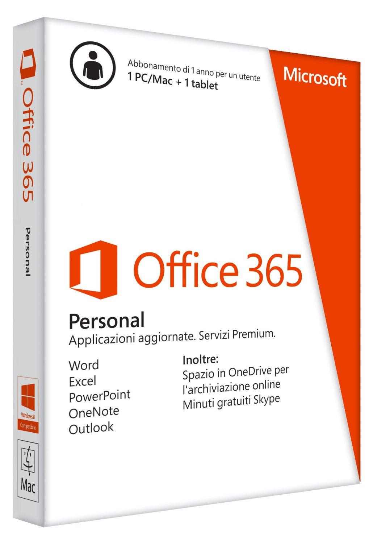 subskrypcja Office 365 Personal 32/64bit (1 rok) za około 104zł @Amazon.it