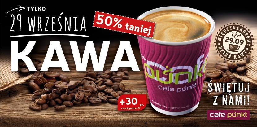 29 września - rabat 50% na wszystkie kawy na stacjach sieci Lotos