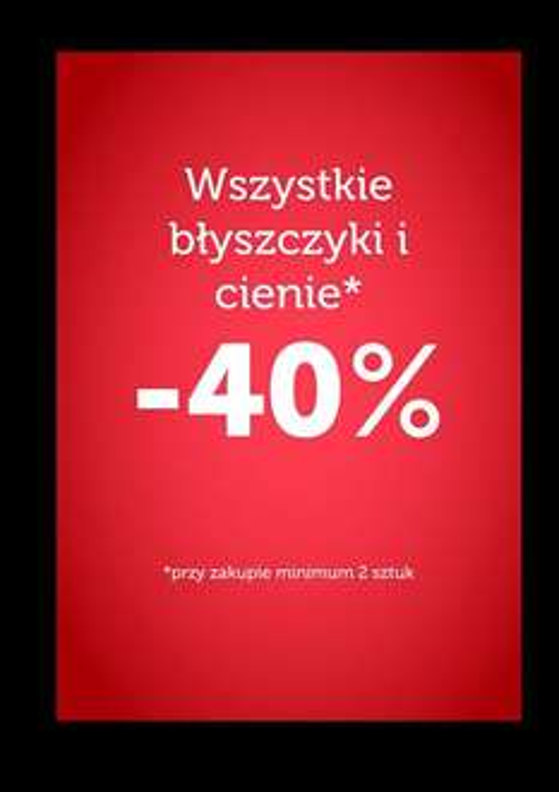 -40% na błyszczyki i cienie @ Flormar