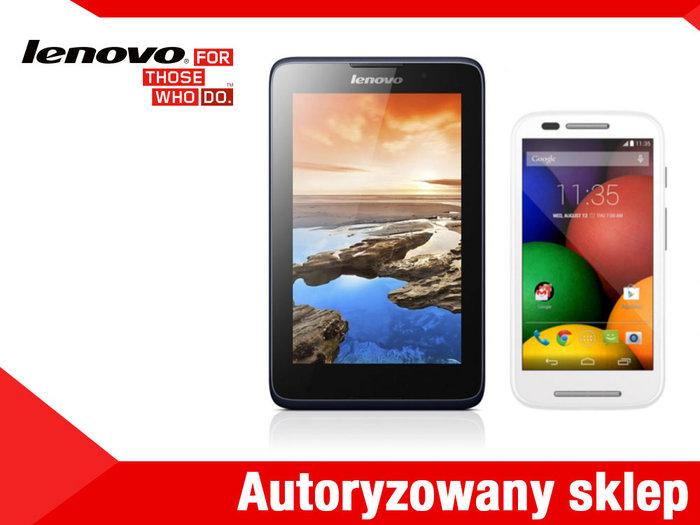 tablet Lenovo A3500L + smartfon Motorola Moto E biała w komplecie za 499zł @ Allegro