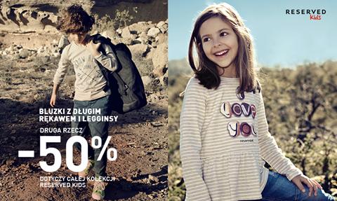 Druga rzecz z rabatem -50% (bluzki i legginsy) @ Reserved Kids