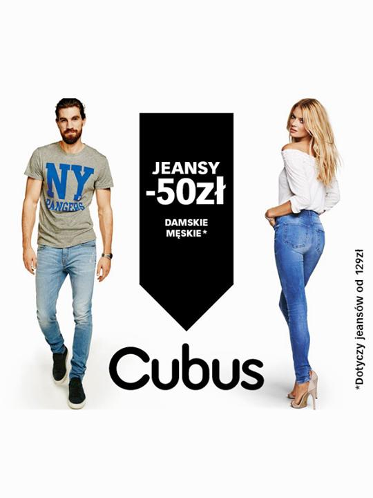 50zł rabatu na dżinsy damskie i męskie @ Cubus