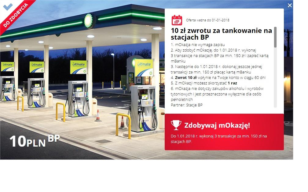 mOkazje - 10 zł zwrotu za tankowanie na stacjach BP