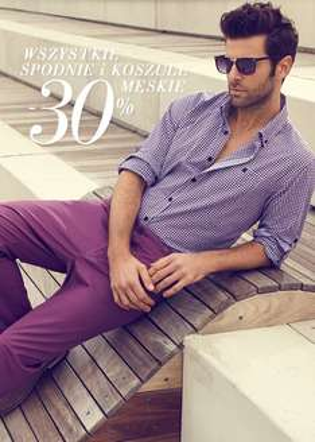 Spodnie i koszule męskie z rabatem 30% @ Top Secret