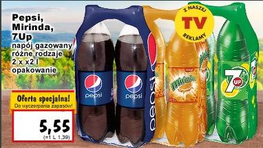 Pepsi, Mirinda lub 7UP dwupaki za 5,55 zł @ Kaufland