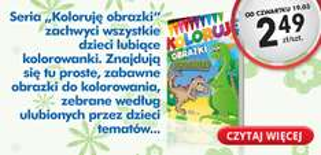Książeczki dla dzieci za 2,49zł @ Biedronka