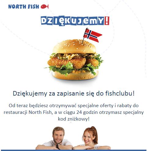 Kod rabatowy -50% na jedzenie w sieci restauracji @North Fish