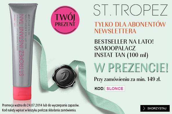 Kod na samoopalacz St. Tropez Instant Tan gratis do zakupów @ Douglas