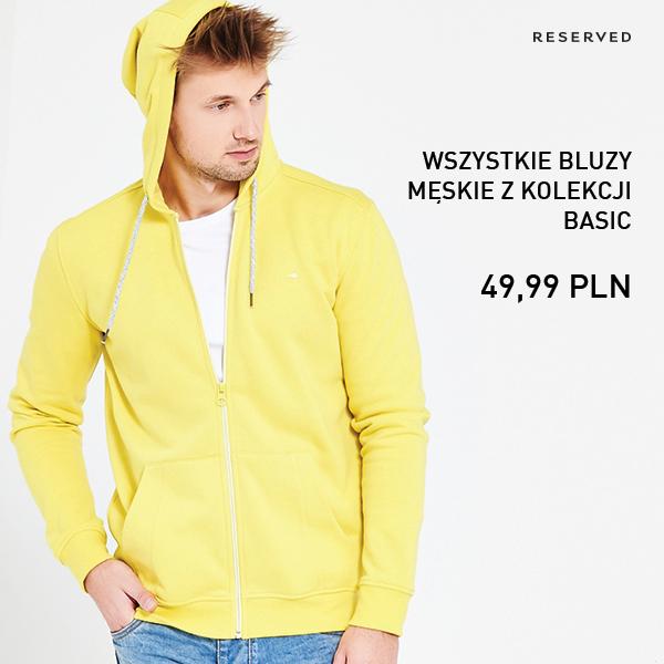 Bluzy męskie z kolekcji Basic za 49,99zł @ Reserved