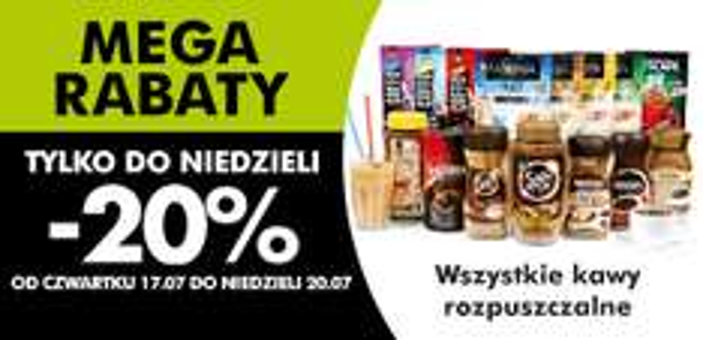 Wszystkie kawy rozpuszczalne - 20% @ Biedronka