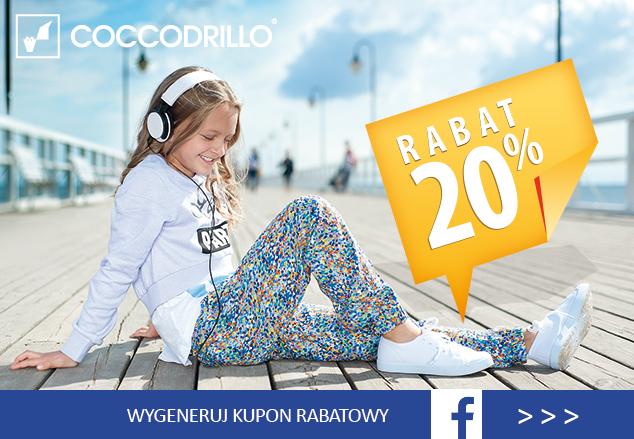 Rabat -20% w formie kuponu do wygenerowania na Facebooku @ Coccodrillo