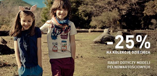 -25% na kolekcję dziecięcą @ Reserved Kids