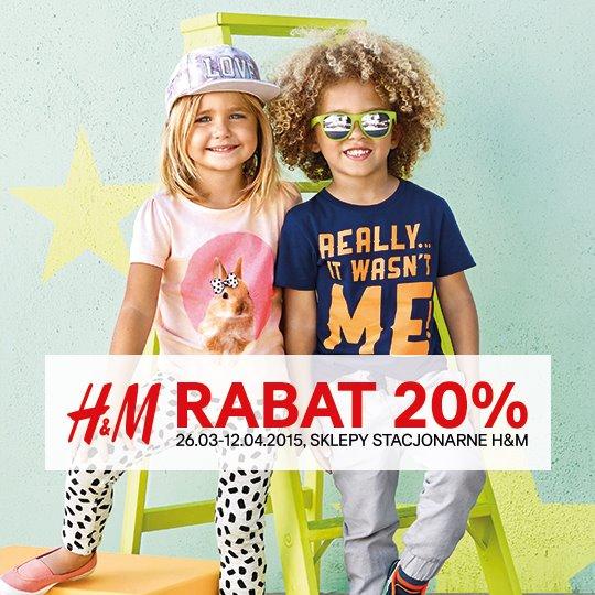 Otwarcie sklepu online i bonus z tej okazji: darmowa dostawa + rabat 20% na kolekcję dziecięcą w sklepach stacj.@ H&M