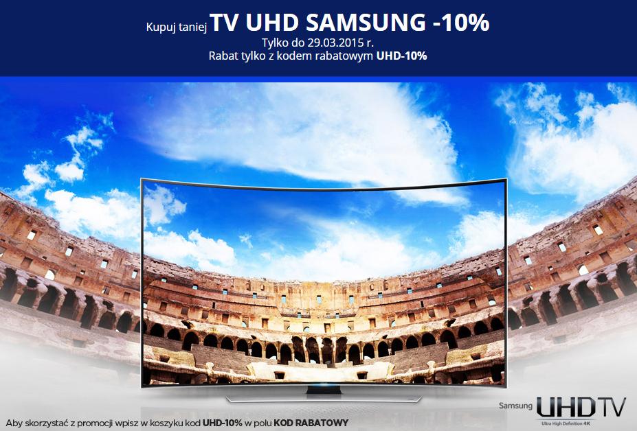 Kod rabatowy -10% na WSZYSTKIE telewizory Ultra HD marki Samsung  @NeoNet