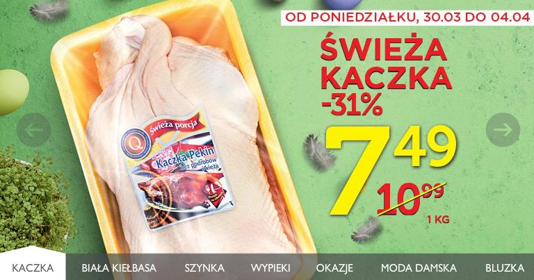 świeża kaczka w cenie 7,49zł/kg (31% taniej) @Lidl