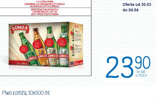 10 butelek piwa Łomża (export, miodowe, niefiltrowane oraz niepasteryzowane) za 23,90zł @Biedronka