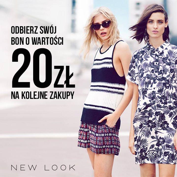 Bon o wartości 20zł do KAŻDEGO zakupu @ New Look