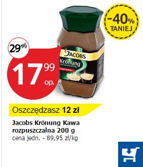 kawa Jacobs Krönung Espresso (200g) 40% taniej przy dostawie @Tesco