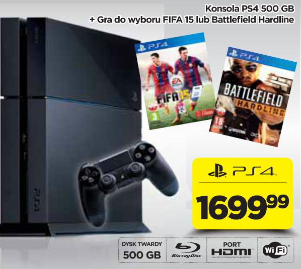 Playstation 4 + FIFA 15 + Battlefield Hardline za 1699zł @Neonet