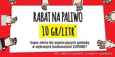 Rabat -10gr/litr na DOWOLNE paliwo przy płatności gotówką @Orlen