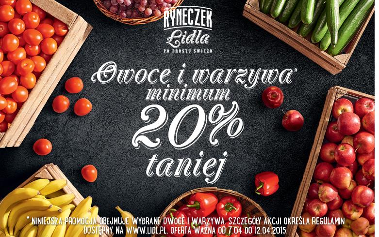 Owoce i warzywa min. 20% taniej @ Lidl