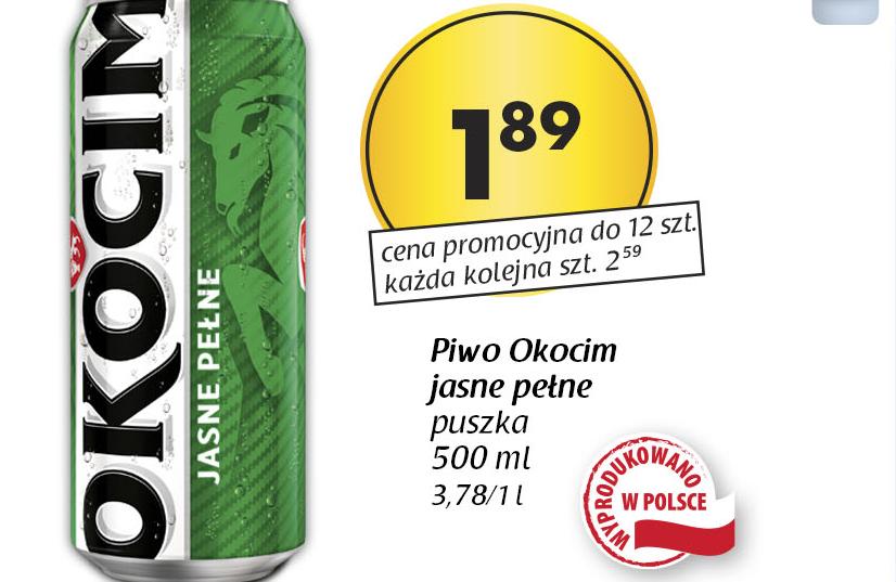 Piwo Okocim 1,89zł/500ml TYLKO 8.04. @ Netto