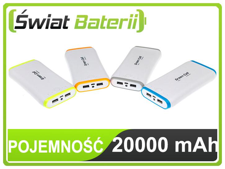 Kupon 50 zł na zakup power banku Green Cell 20000 mAh! @ Świat Baterii