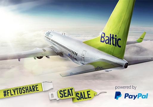 Bilet airBaltic bez opłat transakcyjnych (ok. 30zł) @ PayPal
