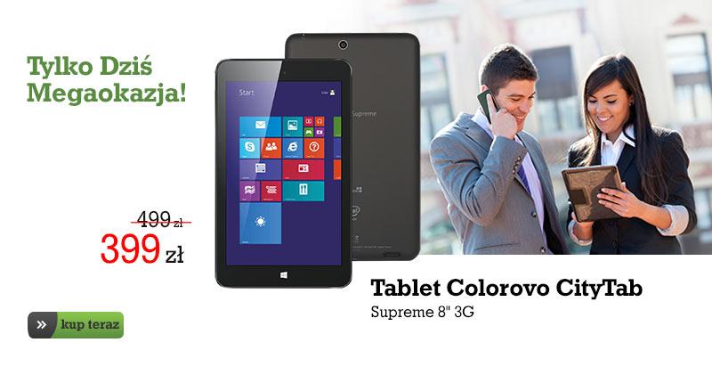 Colorovo CityTab Supreme (3G, 8', Intel Atom 4-rdzenie, Win 8.1+ Office 365!) za 399zł @ Agito