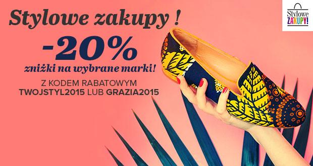 Kod rabatowy -20% na wybrane marki butów @ Sarenza