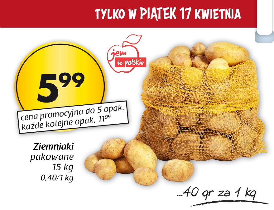 Ziemniaki w cenie 40gr/kg (worek 15kg)@ Netto