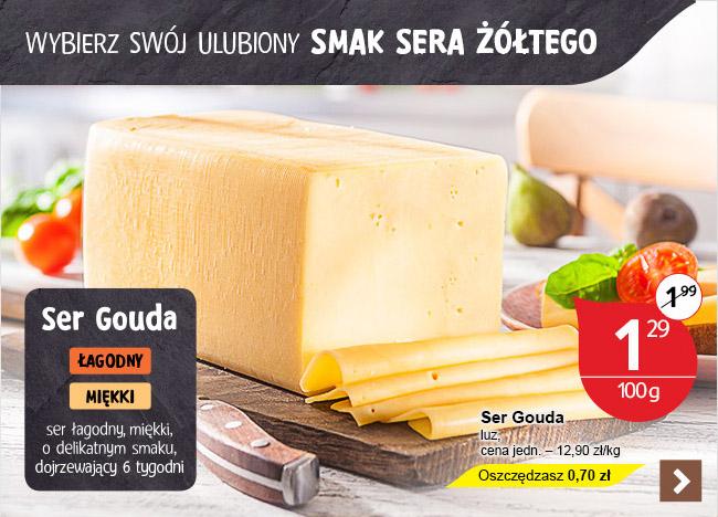 Ser Gouda w cenie 12,90zł/kg @ Tesco