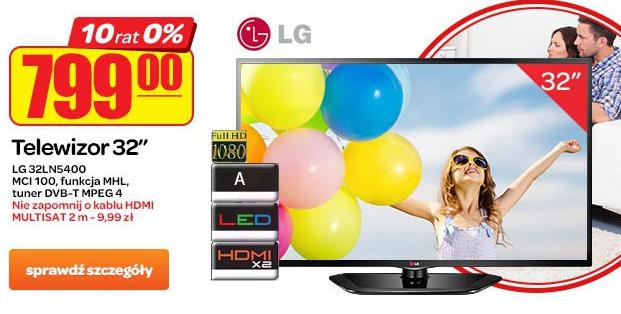 telewizor LG LED 32LN5400, FULL HD o przekątnej 32 cale  za 799zł @ Carrefour