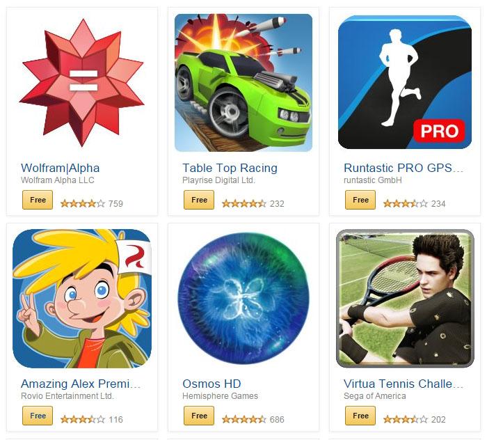 Aplikacje i gry o wartości 105$ za DARMO @ Amazon Apps
