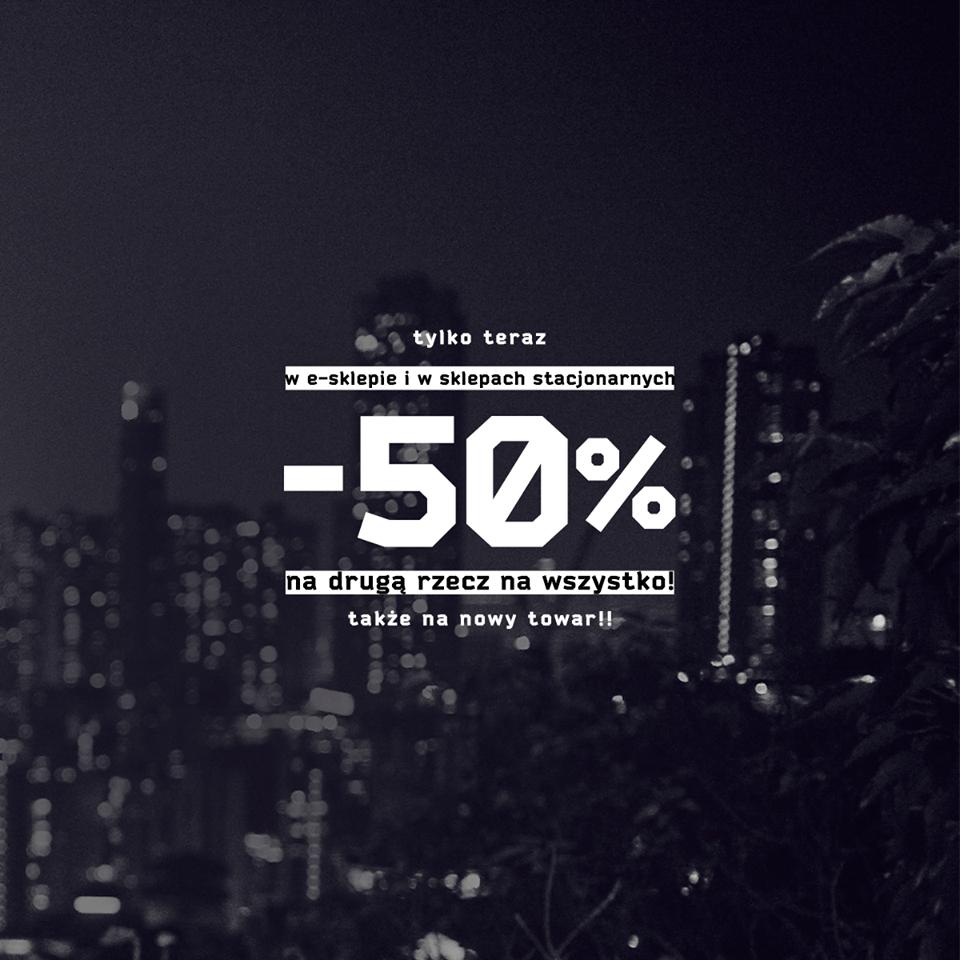 Rabat 50% na drugą rzecz z dowolnego asortymentu @ Cropp