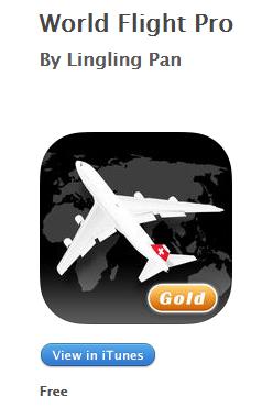 DARMOWA aplikacja World Flight Pro  (regularna cena 6,99$) @ iTunes