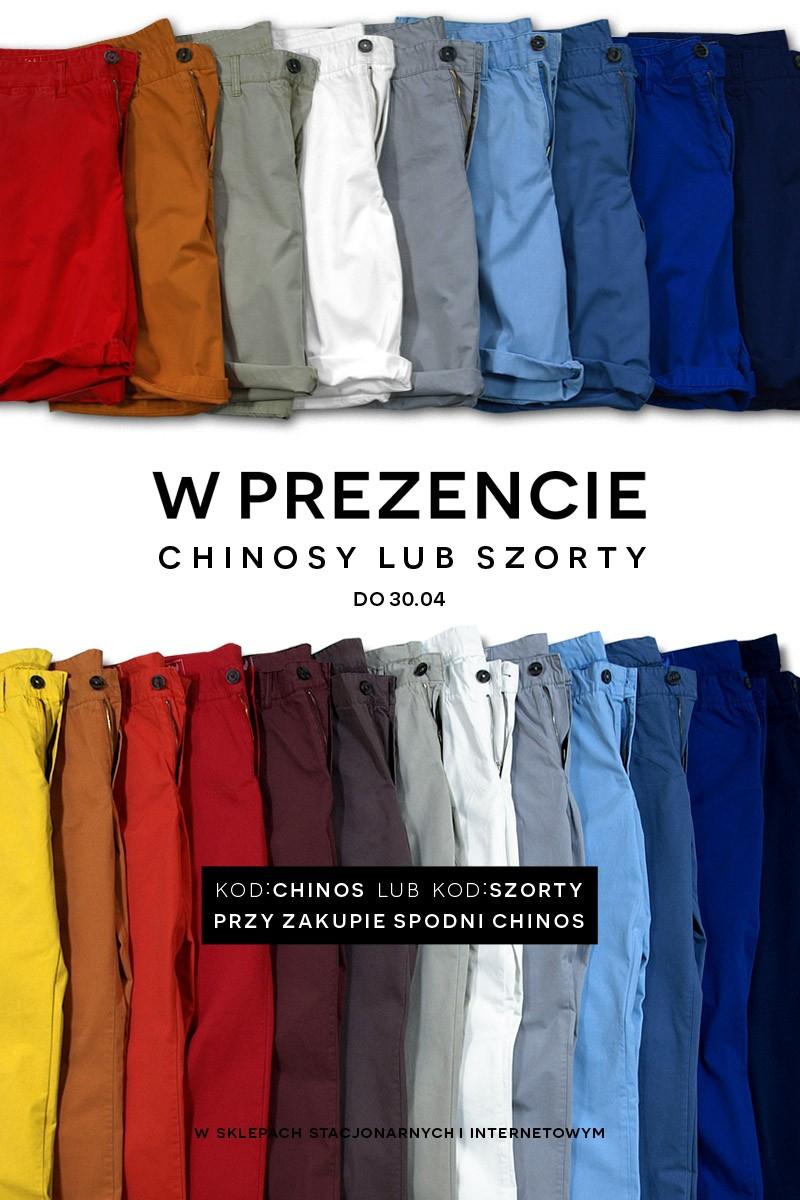 Prezent: spodnie chinos / szorty przy zakupie spodni typu chinos @ Bytom
