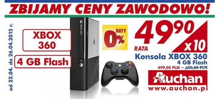 Konsola Xbox 360  4 GB za 499 zł @ Auchan