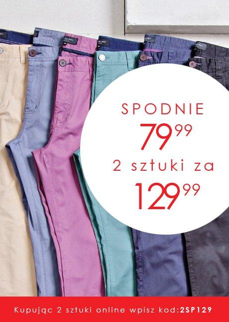 Dwie pary spodni męskich za 130zł @ Top Secret