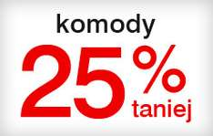 Komody 25% taniej @ Black Red White