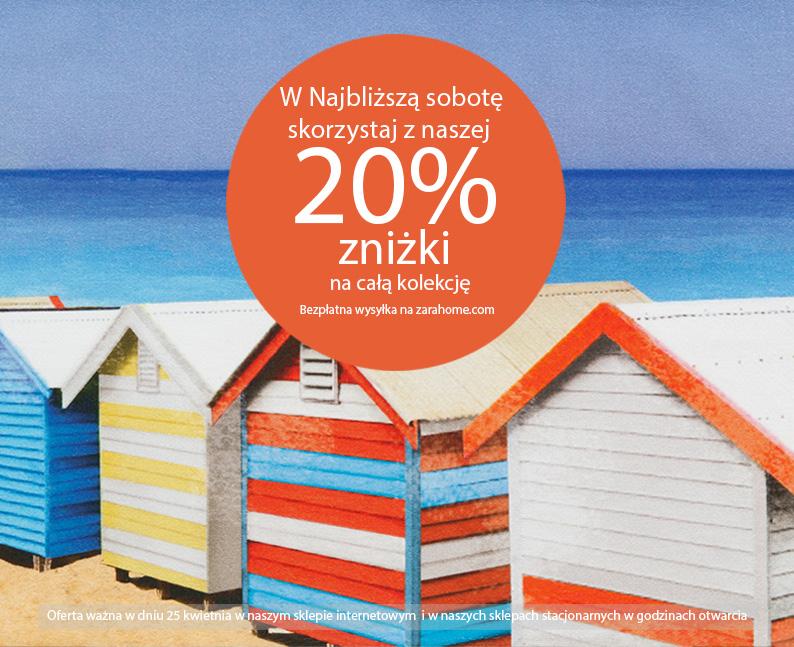 20% zniżki na całą kolekcję + darmowa dostawa (TYLKO DZIŚ) @ Zara Home