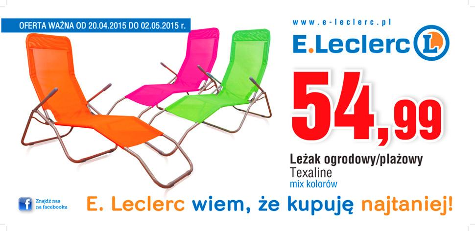 Leżak ogrodowy za 54,99zł @ E.Leclerc