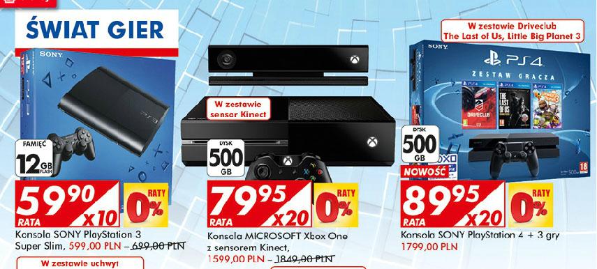 Aktualizacja! Urodziny Auchan (np.: XBOX One + Kinect za 1599zł, PS4 + 3 gry za 1799zł, PS3 Super Slim za 599zł)