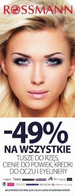 - 49% na wszystkie tusze, cienie, kredki, szminki, błyszczyki i lakiery!!! @ Rossmann